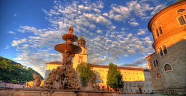 Residenzplatz in Salzburg, Vienna. Photo via Flickr:Mike Norton