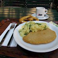 Schnitzel in Salzburg, Austria. Flickr:Erica