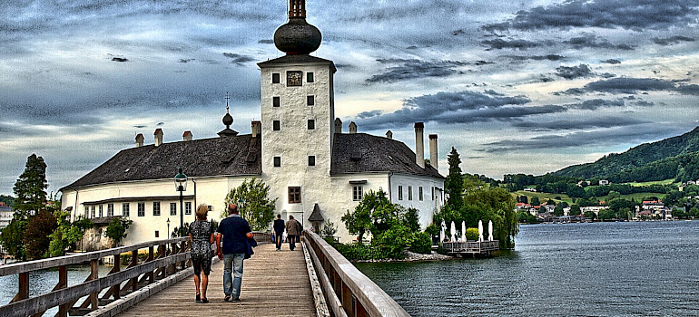 Schloss Ort on Traunsee, Salzkammergut, Salzburg, Austria. Flickr:Hannes Schneider