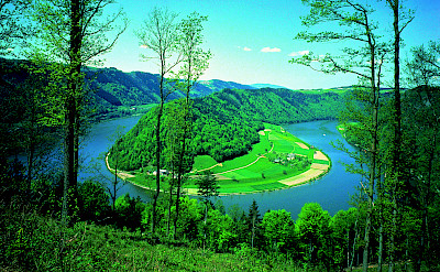 The famous bend in the Danube near Schlogen. Photo via Austrian National Tourist Office