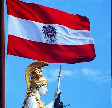Austrian Flag - photo courtesy of Austrian National Tourist Office