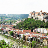 Along the Danube in Burghausen, Austria. Photo via Flickr:gogg