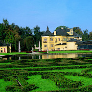 Gardens of the HeIlbrunn Palace in Salzburg, Austria. Photo via Austrian Board of Tourism