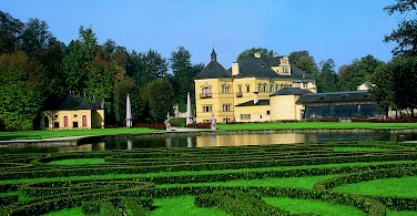 Among the amazing sights to see on this German Austrian bike tour arte the Gardens of the HeIlbrunn Palace in Salzburg - photo courtesy of Austrian Board of Tourism