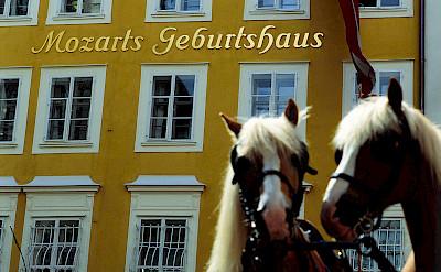 Birthplace of Mozart in Salzburg, Vienna. Photo via Austrian National Tourist Office