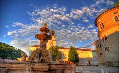 Residenzplatz in Salzburg, Vienna. Flickr:Mike Norton