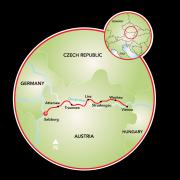 Salzburg a Viena Mapa