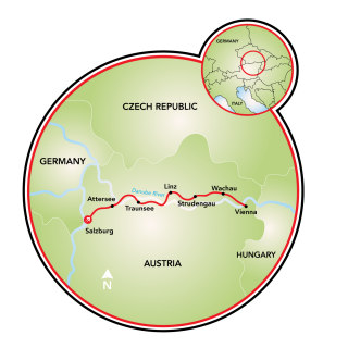 Salzburg to Vienna Map