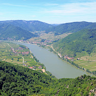 Danube River in Wachau wine-growing region, Austria. Wikimedia Commons:bwag