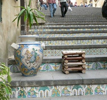 The famous pottery and stairs of Caltagirone! Photo via Flickr:reziemba