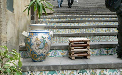 The famous pottery and stairs of Caltagirone, Sicily, Italy. Photo via Flickr:reziemba