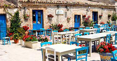 Dining in Marzememi, Sicily, Italy. Photo via Flickr:Stefano La Rosa