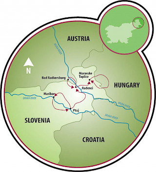 Slovenia - Bike & Relax Map