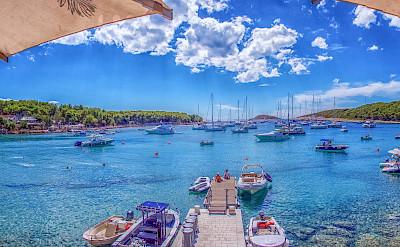 Blue waters of on Hvar Island, Croatia. Flickr:Arnie Papp