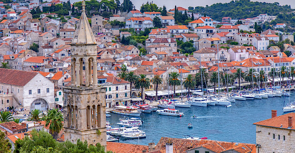 Harbor on Hvar Island, Croatia. Flickr:Arnie Papp
