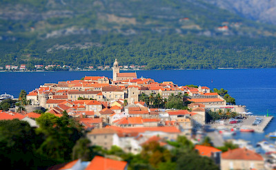 Your boat will sail to Korčula Island for some cycling. Flickr:Paul Arps