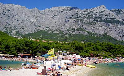 From bike to beach in Makarska, Croatia. Flickr:onarf