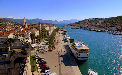 Trogir, Croatia, where the boats are moored. View from Kamerengo Fortress. Flickr:Kate
