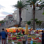 Fruit market on Korcula Island, Croatia. Flickr:Andrea Musi