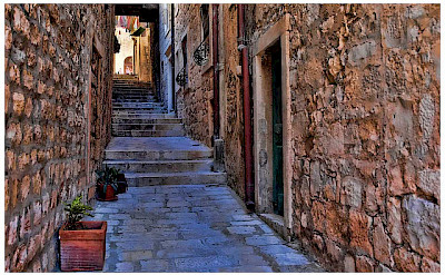 Narrow alleyway on Korcula Island. Photo via Flickr:Mario Fajt