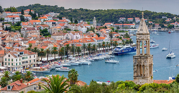 Promenade on Hvar Island, Croatia. Flickr:Arnie Papp