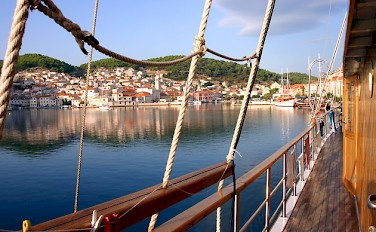 Bike & Boating in Trogir, Croatia. Photo by Carol Dalton