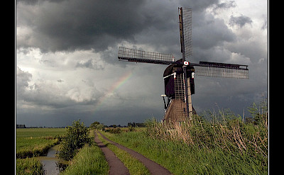 Biking in Alblasserwaard, South Holland, the Netherlands. ©Hollandfotograaf