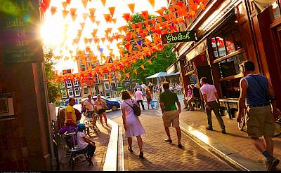 Beer & biking in sunny Amsterdam, North Holland, the Netherlands. Flickr:Moyan Brenn