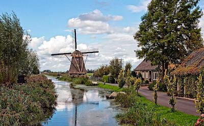 Windmill near Rotterdam, South Holland, the Netherlands. ©Hollandfotograaf