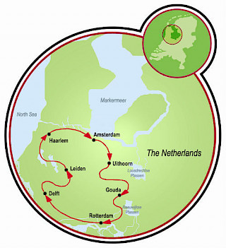 Holland Southern Tulip Tour Map