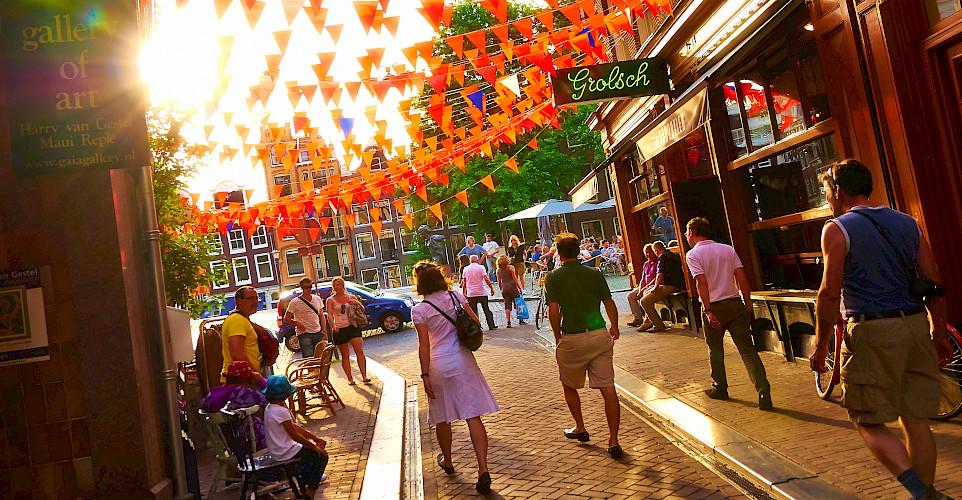 Orange is Holland's signature color! Amsterdam, North Holland, the Netherlands. Flickr:Moyan Brenn