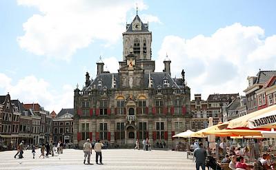 Main Square in Delft, the Netherlands. Flickr:bert knottenbeld