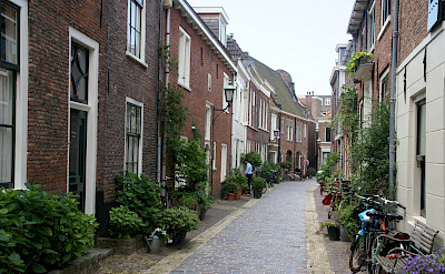 Cobblestone streets in Haarlem, the Netherlands. Flickr:David Baron