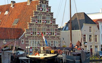 Old Harbor in Leiden, South Holland, the Netherlands. Flickr:Roman Boed