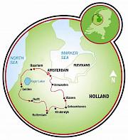 Sul da Holanda Mapa