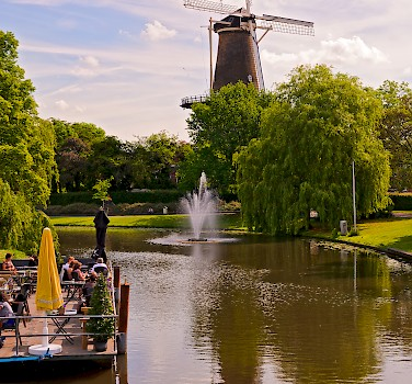 Windmill in Leiden, the Netherlands. Photo via Flickr:Tambako the Jaguar