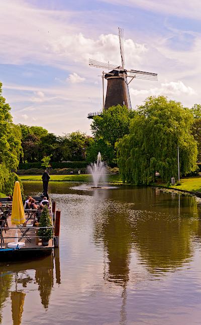 Windmill in Leiden, the Netherlands. Flickr:Tambako the Jaguar