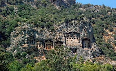 Lycian Rock Tombs in Dalyan, Turkey. CC:allenwatkin