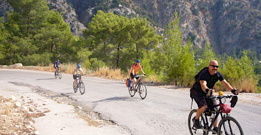 Enjoying the quiet bike paths in Turkey. Photo by Martin Lubke