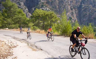 Enjoying the quiet bike paths in Turkey. Photo by Martin Lubke