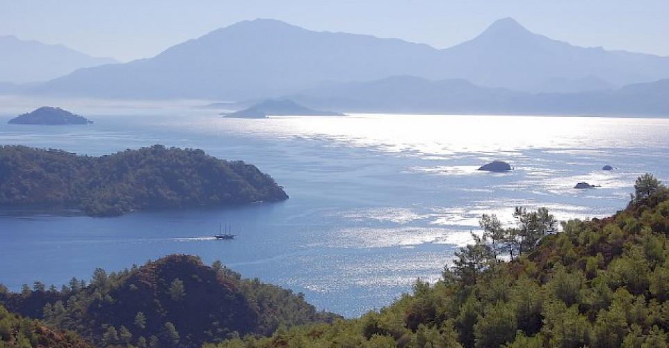 Admiring the view off the Lykian Coast, Turkey. Photo by Tobias Lohmann