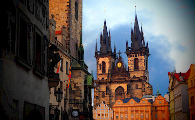 Church of Our Lady before Týn in Old Town Square in Prague, Czech Republic. Flickr:Stefan Jurca