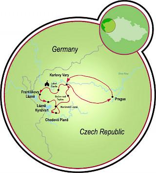 Spa Triangle & Prague Map