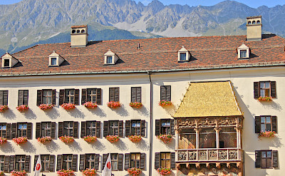 Famous <i>Goldenes Dachl</i> (Golden Roof) in Innsbruck, Austria where Emperor Maximilian I would watch festivals! Flickr:Michela Simoncini
