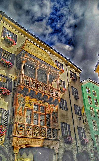 Amazing shot of the Golden Roof in Innsbruck, the capital of Tyrol, Austria. Flickr:r chelseth