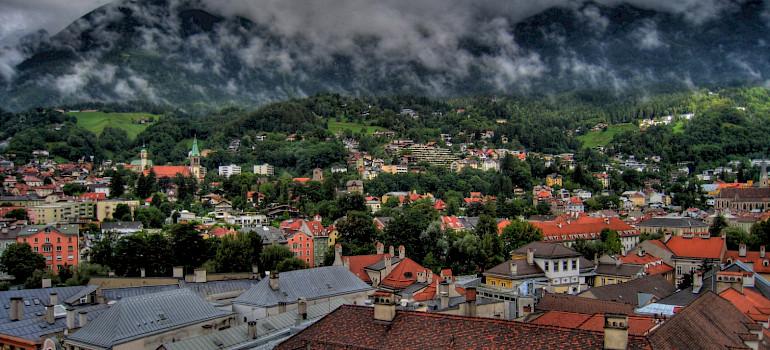 Innsbruck from the City Tower in Tyrol, Austria. Flickr:Razvan Orendovici