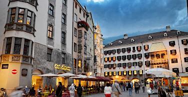 Innsbruck along the Inn River, Tyrol, Austria. Photo via Flickr:CostelSlincu