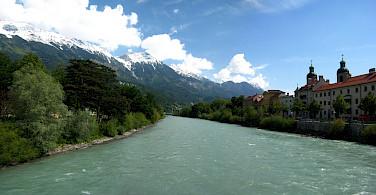 Biking along the Inn River in Austria. Photo via Flickr:Abhijeet Rane