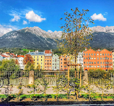 Along the Inn River in Innsbruck, Austria. Flickr:r chelseth