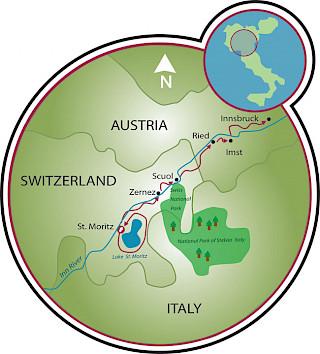 St. Moritz a Innsbruck Map